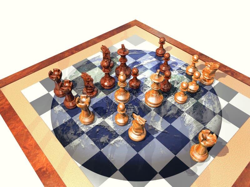 地球一盘象棋 库存例证