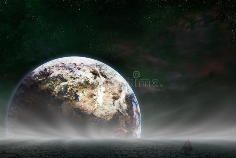 地球上升 向量例证