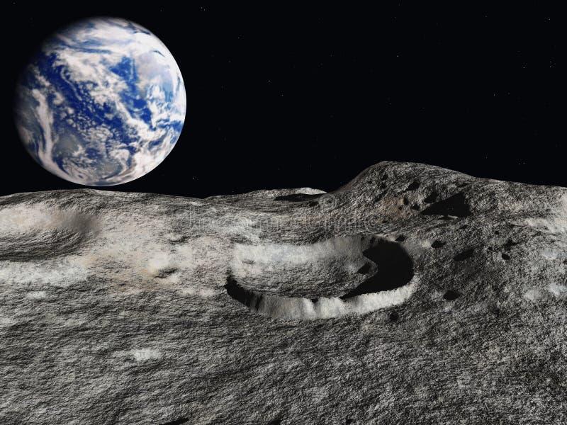 地球上升 皇族释放例证