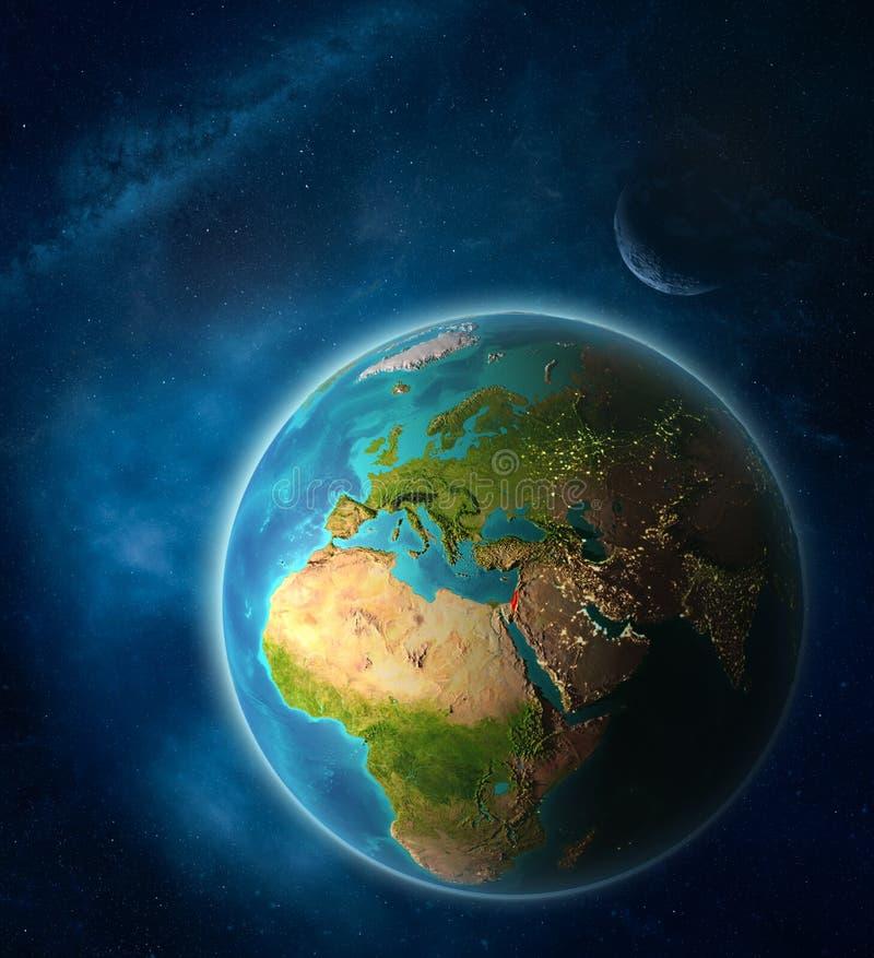 地球上的以色列从空间 向量例证