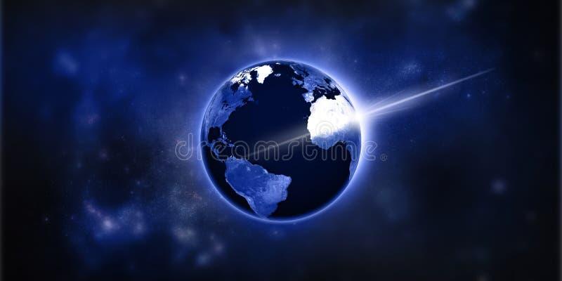 地球上的光 免版税图库摄影