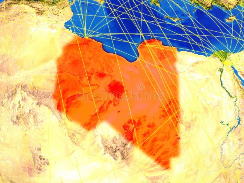 地球上的利比亚与网络 皇族释放例证