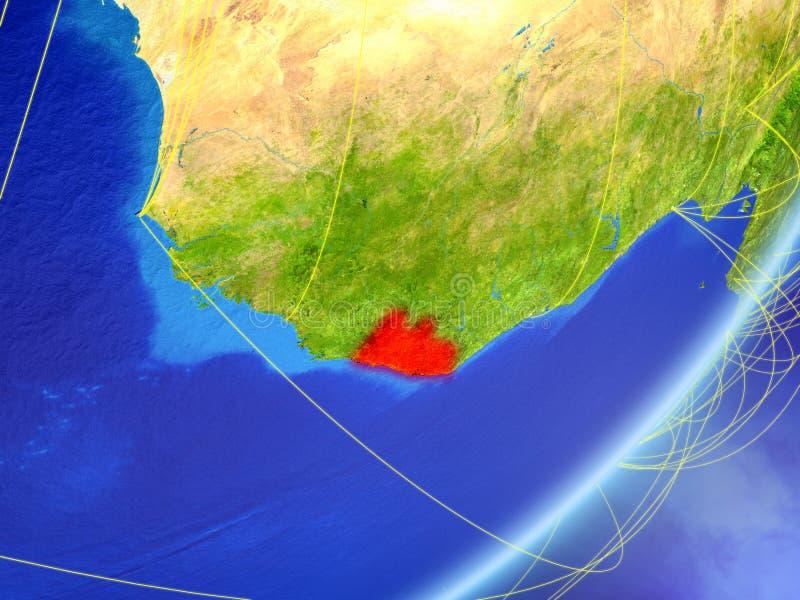 地球上的利比里亚与网络 皇族释放例证