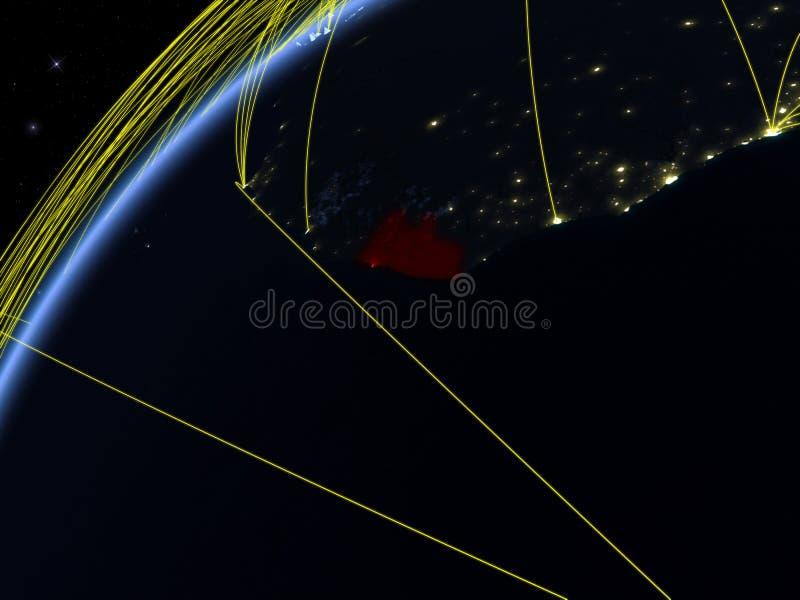 地球上的利比里亚与网络 向量例证