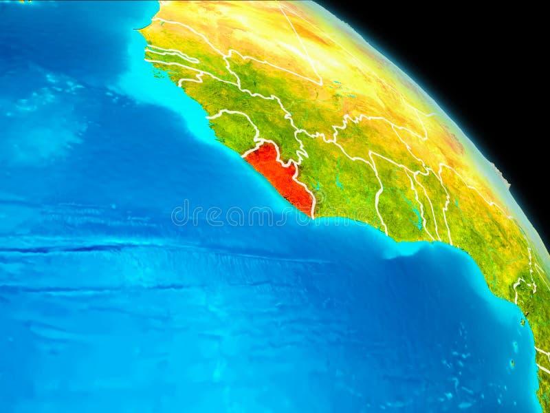 地球上的利比里亚 向量例证