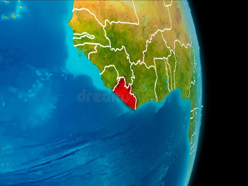 地球上的利比里亚 皇族释放例证