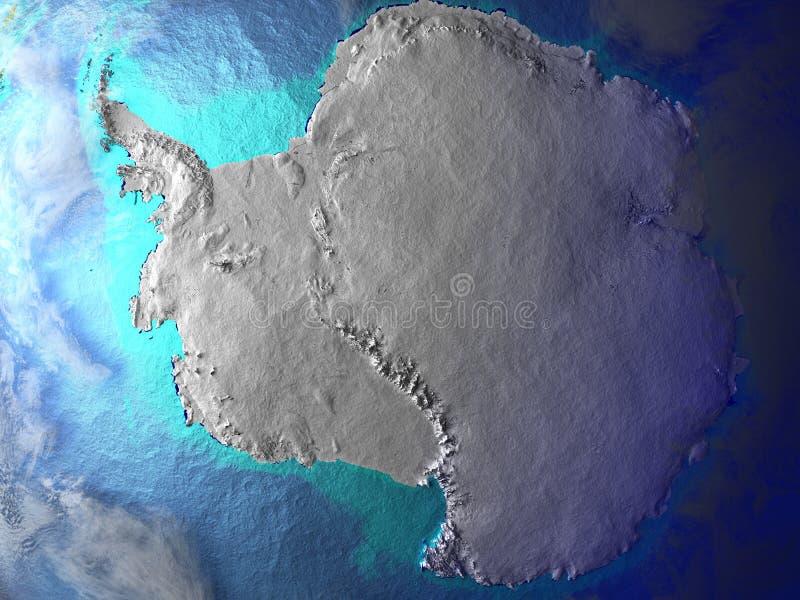 地球上的南极洲 向量例证