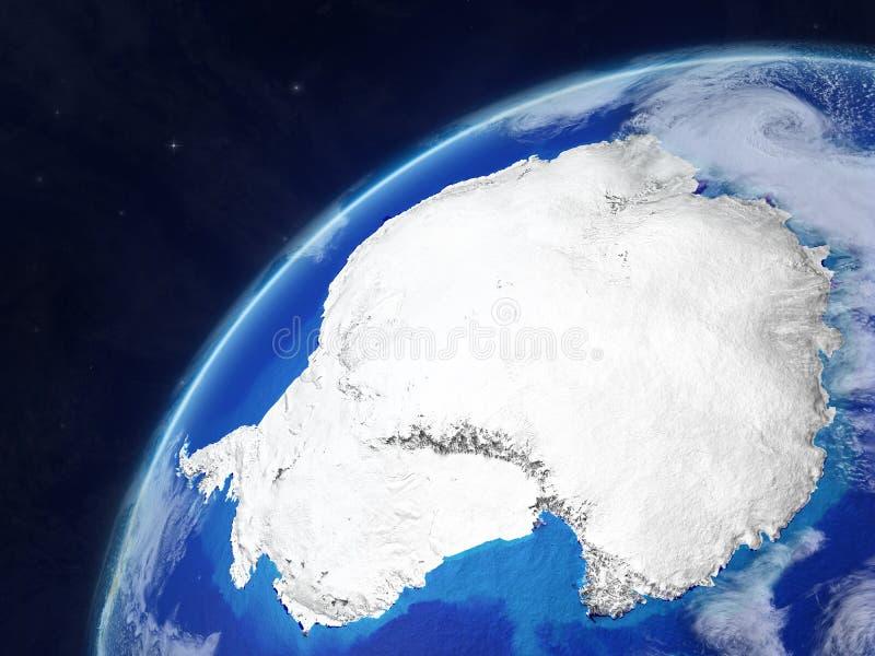 地球上的南极洲 库存例证