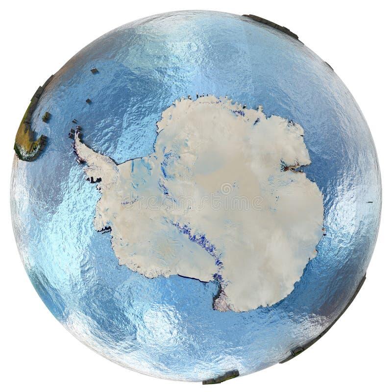 地球上的南极洲 皇族释放例证