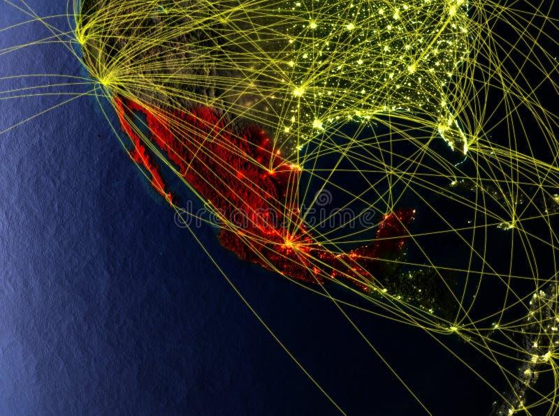 地球上的墨西哥与网络 皇族释放例证