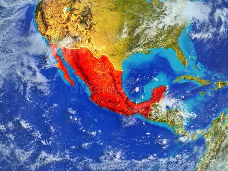 地球上的墨西哥从空间 皇族释放例证