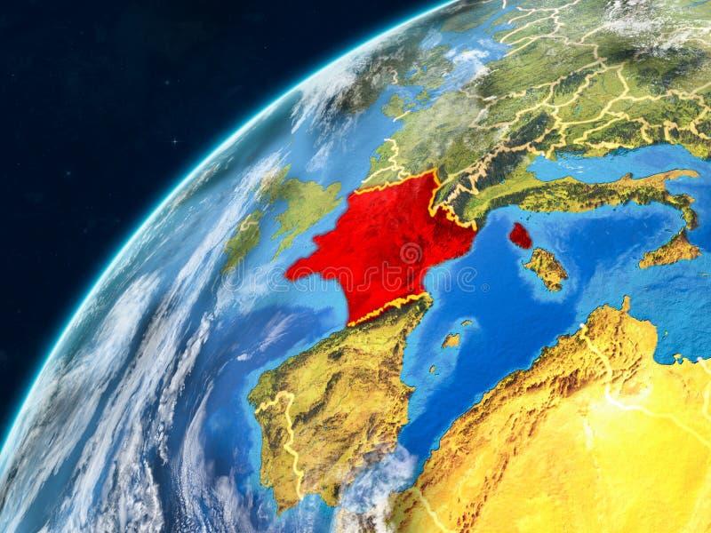 地球上的法国与边界 库存例证
