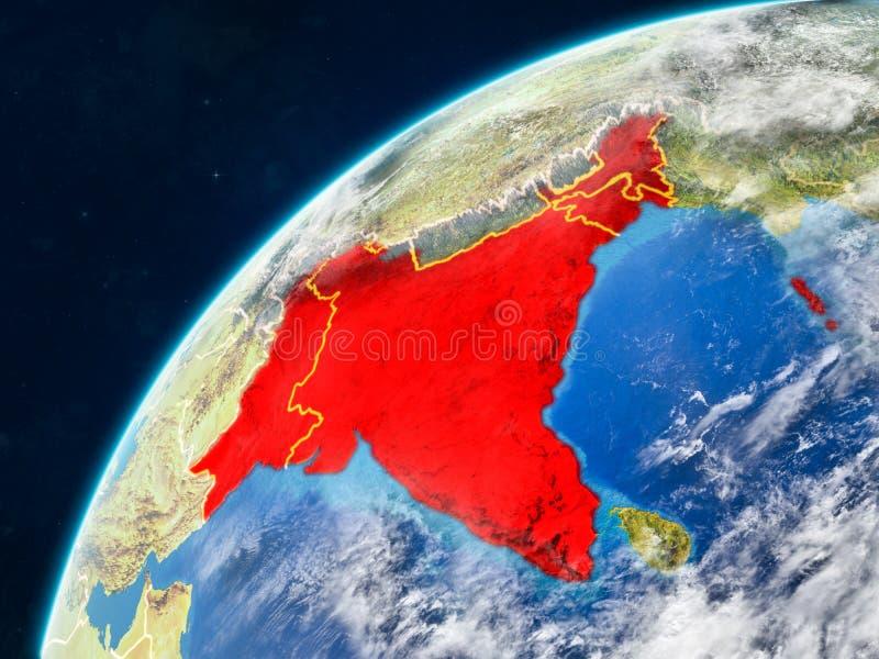 地球上的英国印度与边界 皇族释放例证