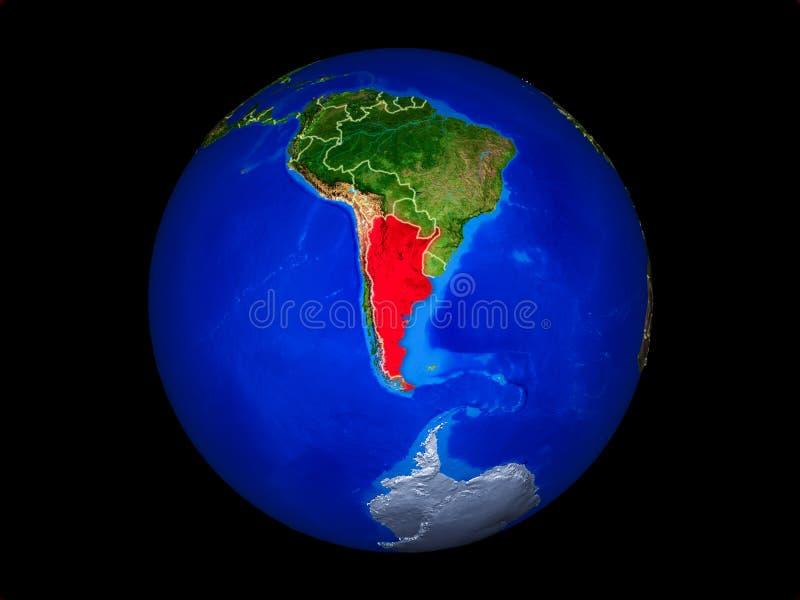 地球上的阿根廷从空间 向量例证