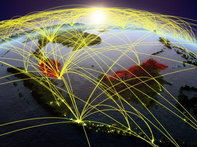地球上的马来西亚与网络 皇族释放例证