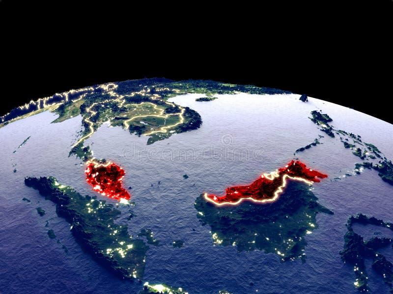 地球上的马来西亚从空间 皇族释放例证