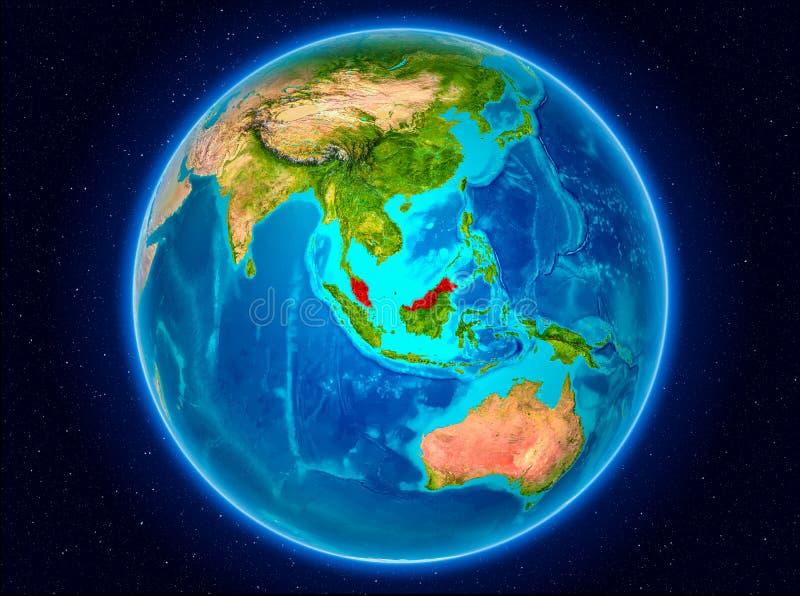 地球上的马来西亚 库存例证