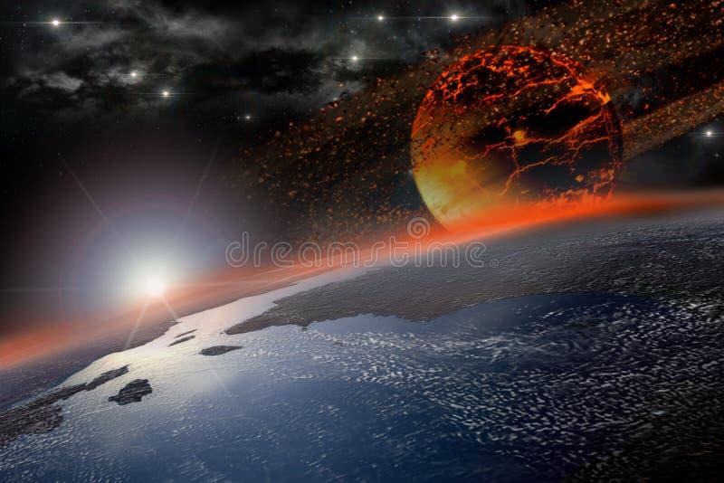 地球上的死命早晨 向量例证