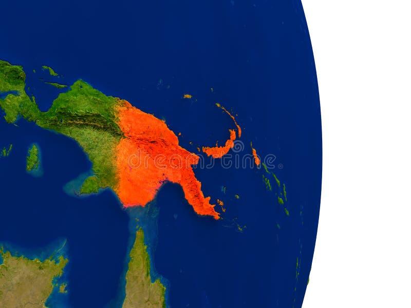 地球上的巴布亚新几内亚 皇族释放例证