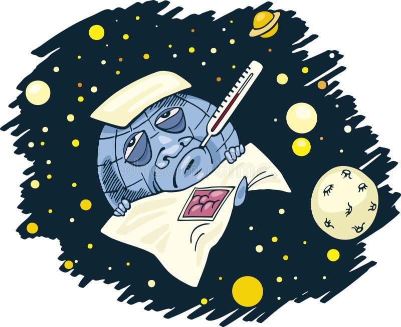 地球不适行星 向量例证