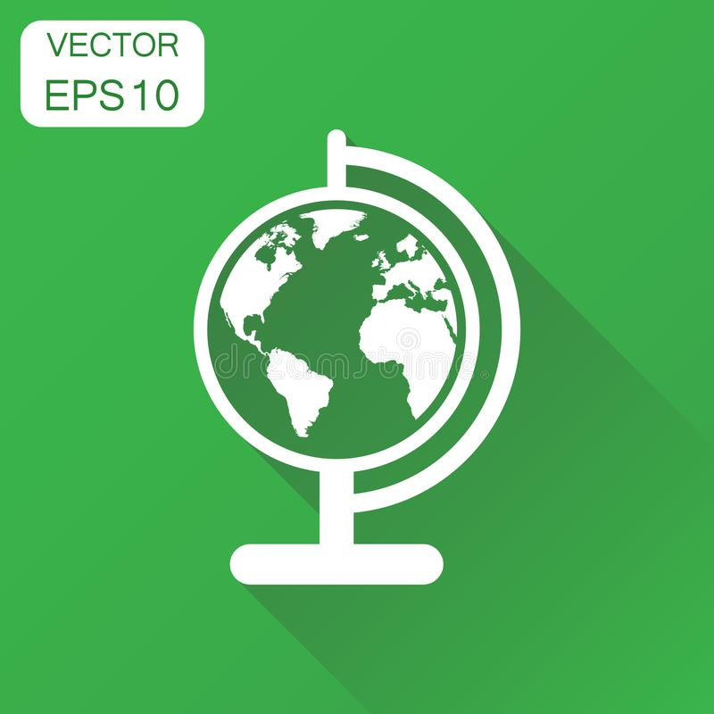 地球世界地图象 企业概念圆的地球图表 Ve 向量例证
