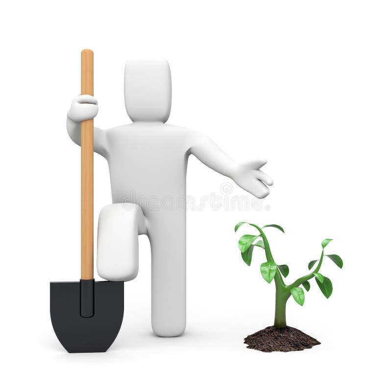 地球从事园艺 向量例证