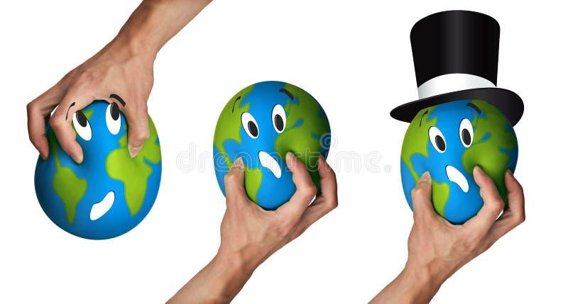 地球伤害 库存图片