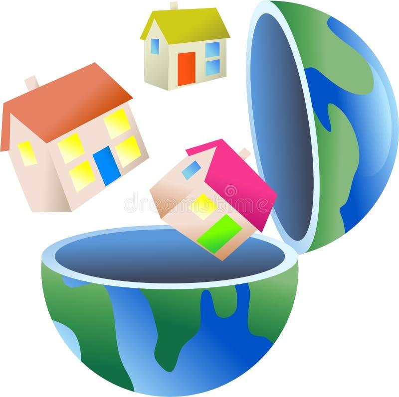 地球住房 库存例证