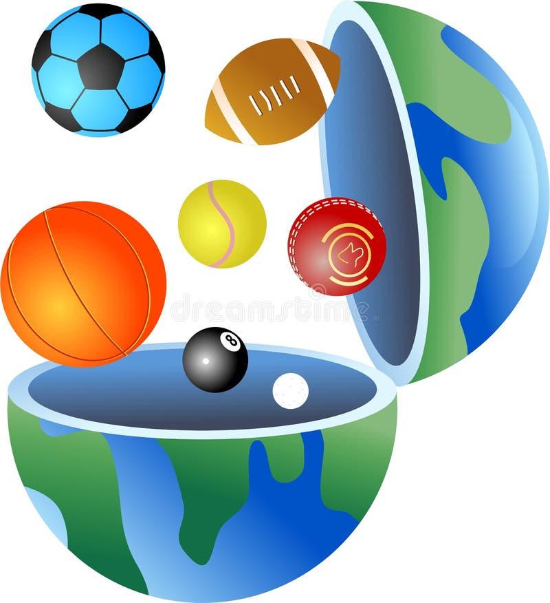 地球体育运动 皇族释放例证