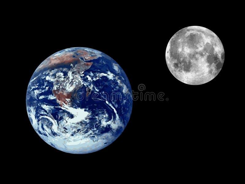 地球例证光栅 库存例证