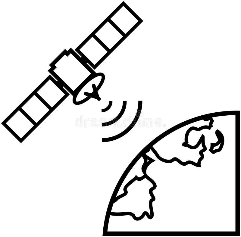 地球例证卫星向量视图 向量例证