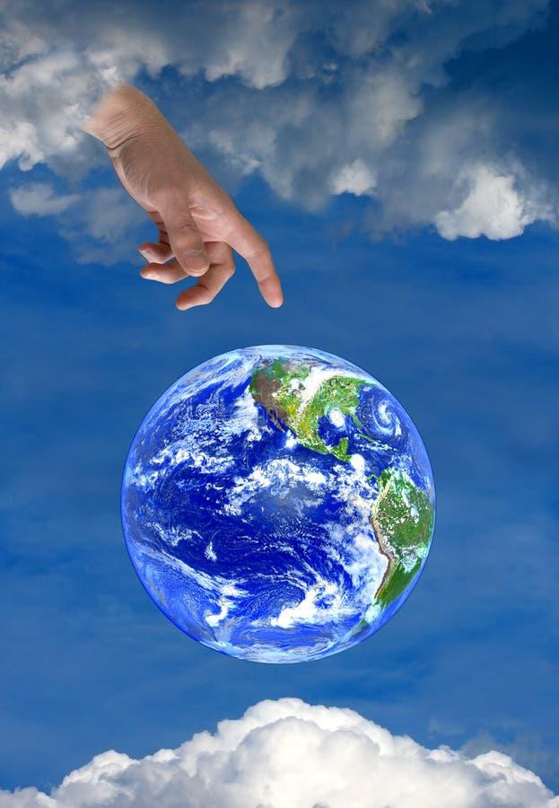 地球信念神天堂希望宗教信仰 库存图片
