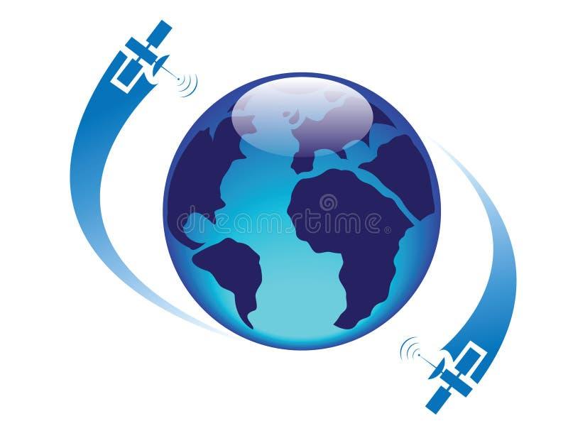 地球光滑的卫星 免版税库存图片
