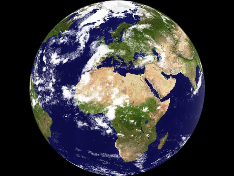 地球全视图 库存例证