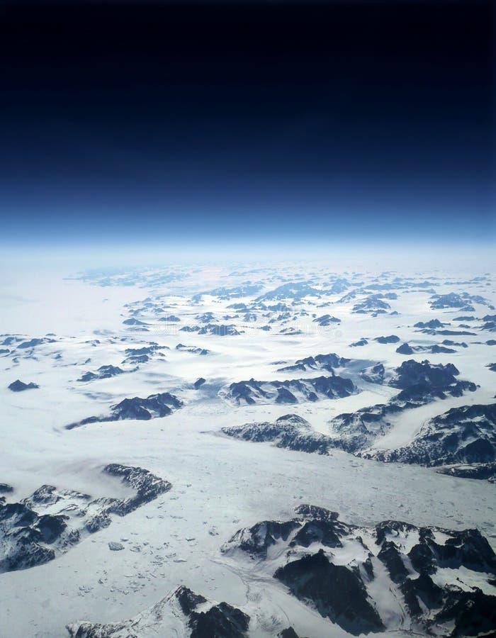 地球冰川展望期空间 免版税库存照片