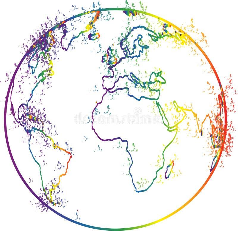 地球分级显示 皇族释放例证