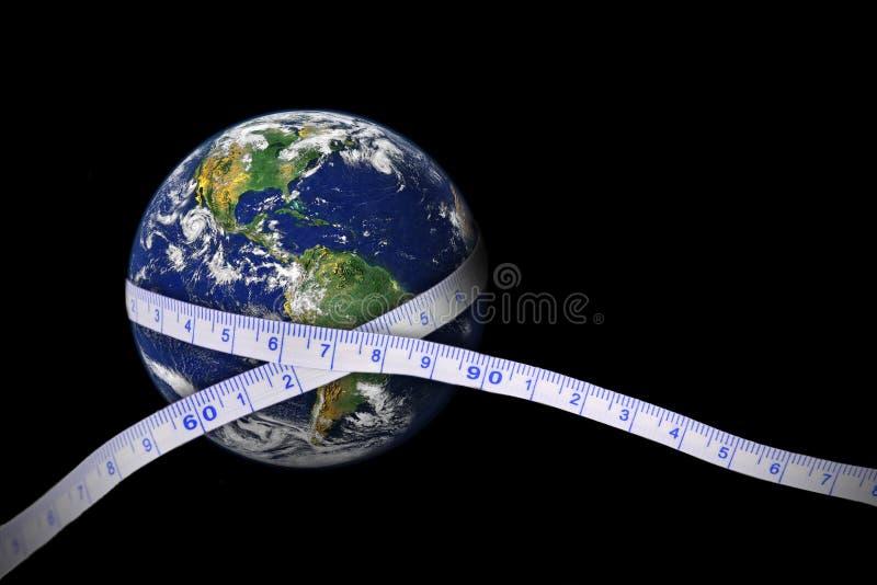 地球包裹了 皇族释放例证