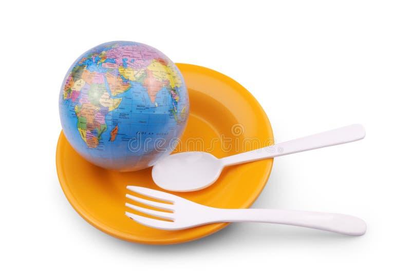 地球匙子 免版税库存照片