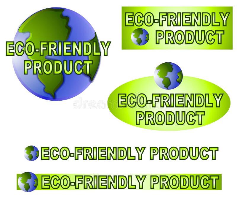 地球友好标签贴纸 库存例证