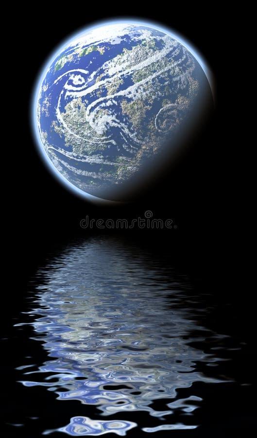 地球反映 皇族释放例证