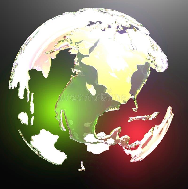 地球发光的透亮世界 向量例证