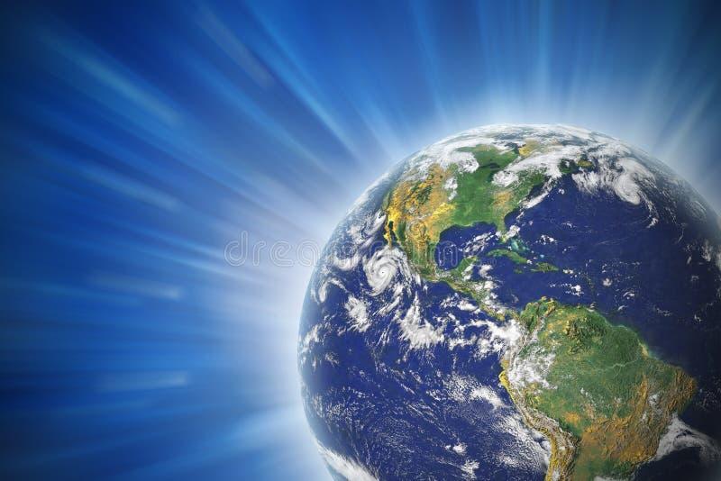 地球发光 向量例证