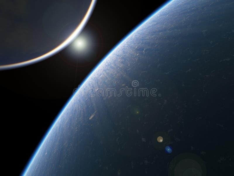 地球喜欢行星空间 皇族释放例证