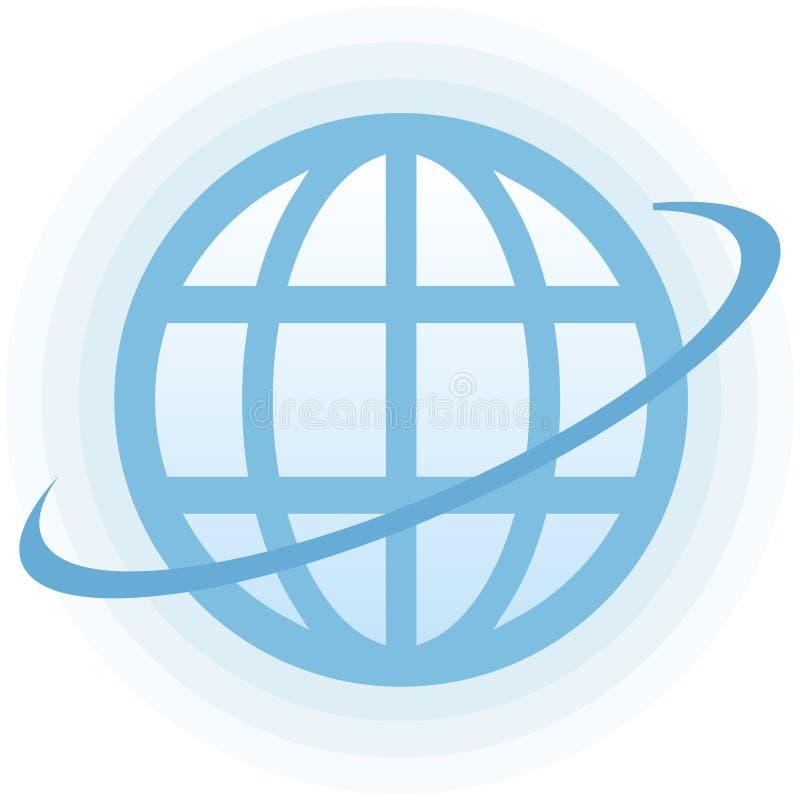 地球图标向量 库存例证