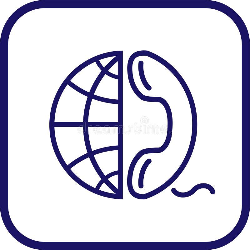 地球图标电话向量 皇族释放例证