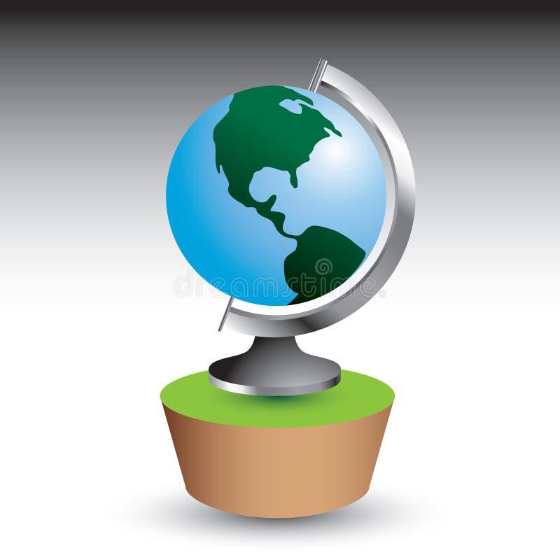 地球图标 向量例证