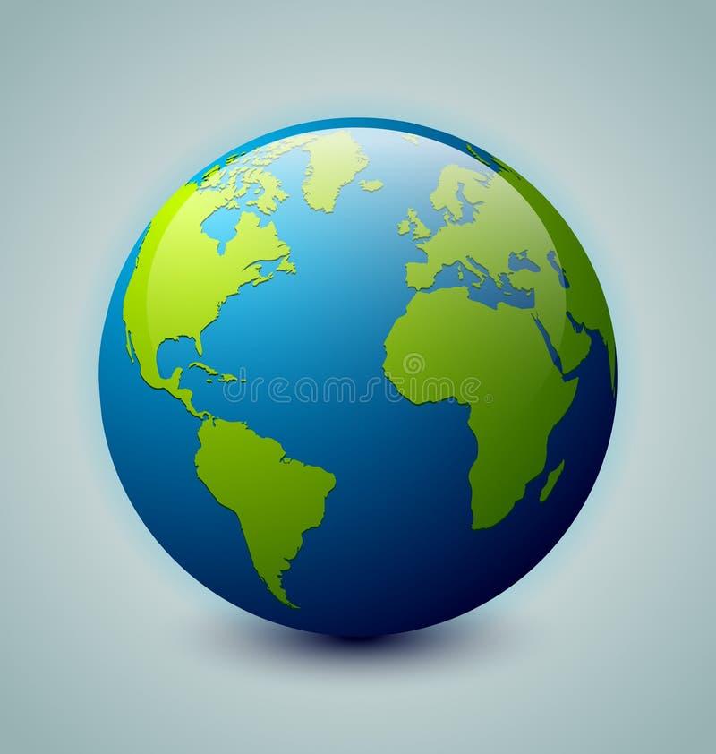 地球图标 皇族释放例证