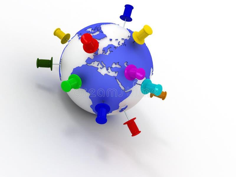 Download 地球图钉 库存例证. 插画 包括有 水平, 旅途, 目的地, 行星, 提示, 范围, 地球, 吸气器, 概念 - 15695010
