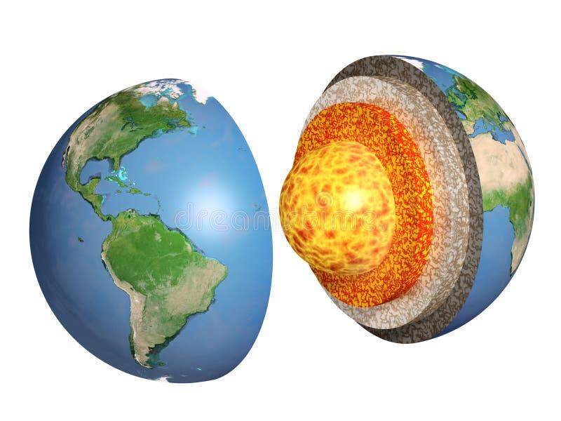 地球在结构白色的查出的设计 皇族释放例证