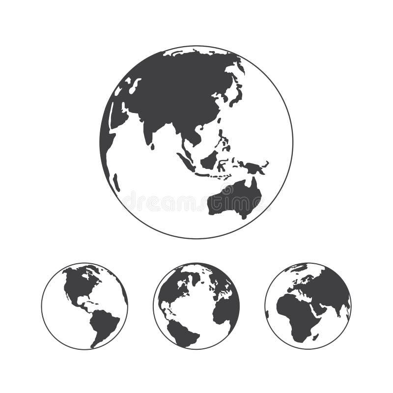 地球地球传染媒介设计元素 向量例证